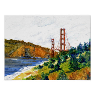 San Francisco and the Golden Gate Bridge Poster