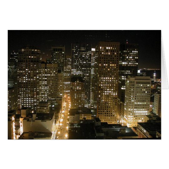 San Francisco at night Card