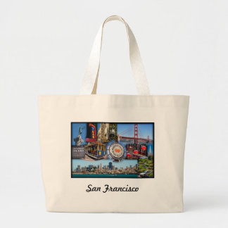 San Francisco Attractions Large Tote Bag