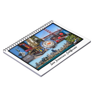 San Francisco Attractions Spiral Notebook