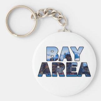 San Francisco Bay Area Basic Round Button Keychain