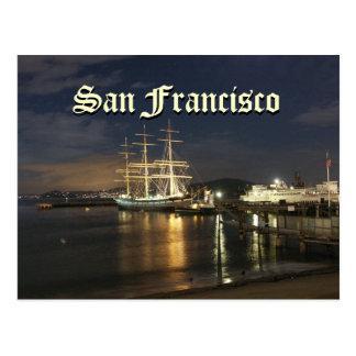 San Francisco Bay at Night Postcard