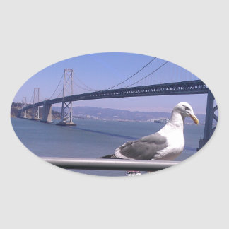 San Francisco Bay Bridge Oval Sticker