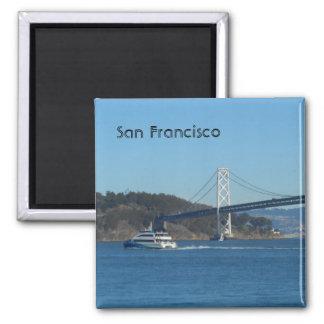 San Francisco Bay Bridge Square Magnet
