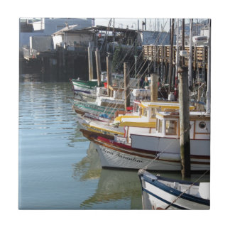 San Francisco Boats Tile
