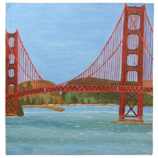 San Francisco Bridge Printed Napkins