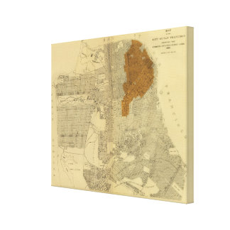 San Francisco burnt area, 1906 Gallery Wrapped Canvas