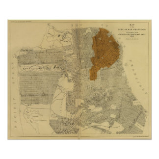 San Francisco burnt area, 1906 Poster