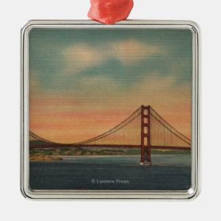 San Francisco, CA 2 Metal Ornament