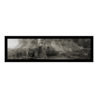 San Francisco CA Burning Photo 1906a Poster