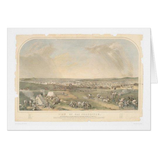 San Francisco, CA. Panoramic Map (1551A) Card