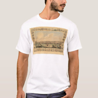 San Francisco, CA. Panoramic Map 1860 (1162A) T-Shirt