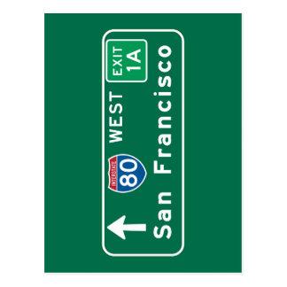 San Francisco, CA Road Sign Postcard