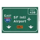 San Francisco CA SFO Airport I-380 E Interstate - Card