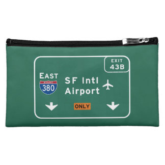 San Francisco CA SFO Airport I-380 E Interstate - Cosmetics Bags
