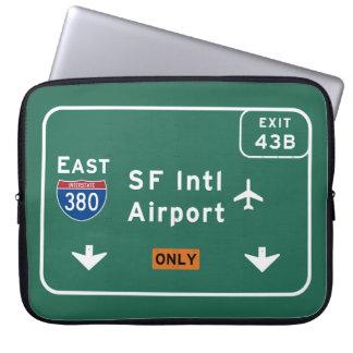 San Francisco CA SFO Airport I-380 E Interstate - Laptop Sleeves
