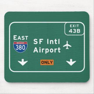 San Francisco CA SFO Airport I-380 E Interstate - Mouse Pad