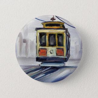 San Francisco Cable Car 2 Inch Round Button