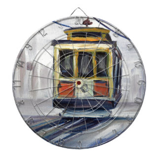 San Francisco Cable Car Dartboard