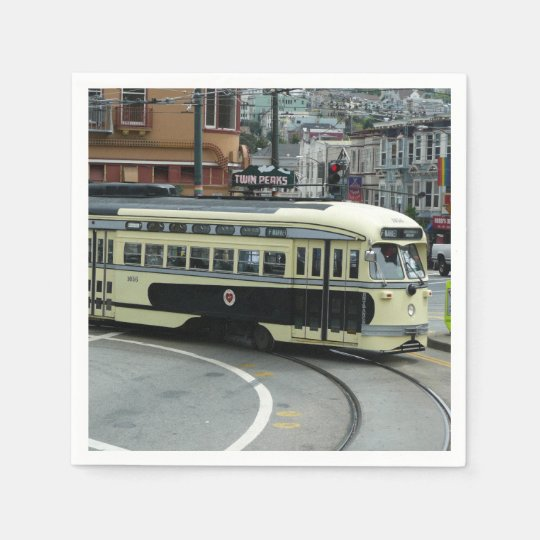 San Francisco Cable Car Disposable Napkin
