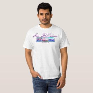 San Francisco Cable Car Golden Gate Bridge Skyline T-Shirt