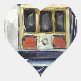 San Francisco Cable Car Heart Sticker