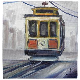 San Francisco Cable Car Napkin