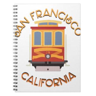 San Francisco Cable Car Note Book