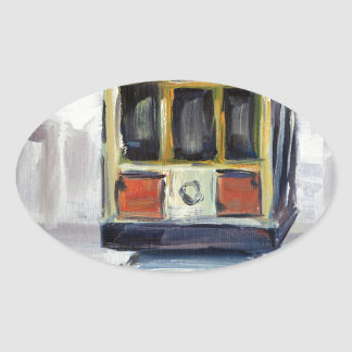 San Francisco Cable Car Oval Sticker