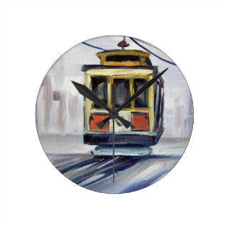 San Francisco Cable Car Round Clock