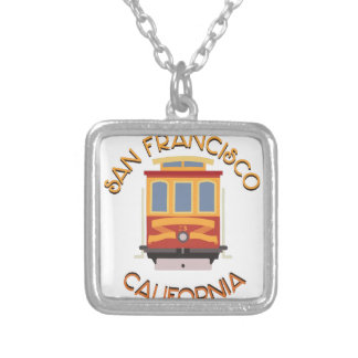 San Francisco Cable Car Silver Plated Necklace