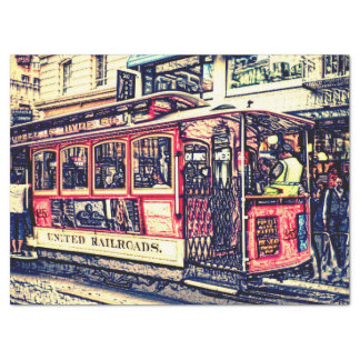 San Francisco,cable car Tissue Paper