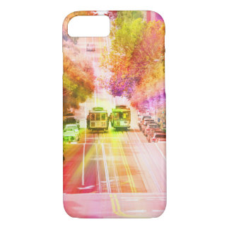 San Francisco cable cars psychedelic iPhone 7 Case