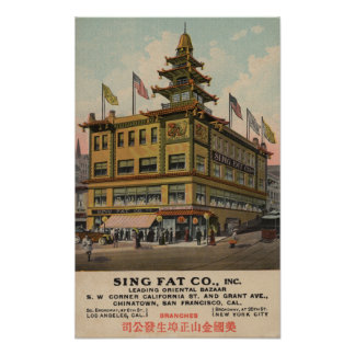 San Francisco, CAChinatown AdSing Fat Co. Poster