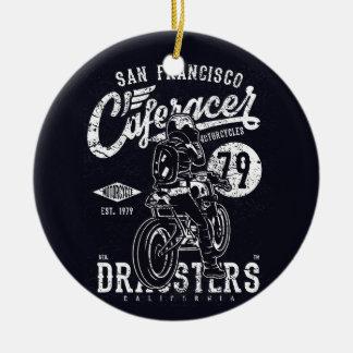 San Francisco Cafe Racer Motor California Ceramic Ornament