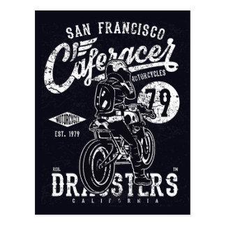 San Francisco Cafe Racer Motor California Postcard