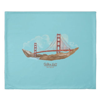 San Francisco Califorina Landmarks Duvet Cover