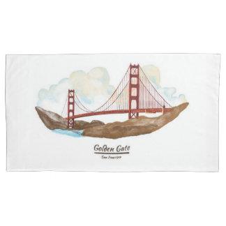 San Francisco Califorina Landmarks Pillowcase