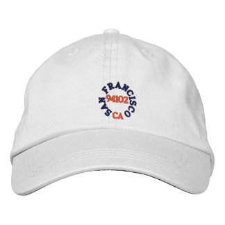 SAN FRANCISCO CALIFORNIA, 94102 EMBROIDERED HAT