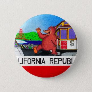 San Francisco California Bear Flag 2 2 Inch Round Button