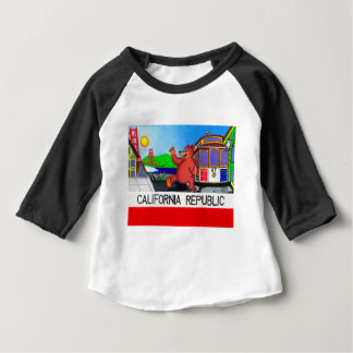 San Francisco California Bear Flag 2 Baby T-Shirt