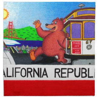 San Francisco California Bear Flag 2 Napkin