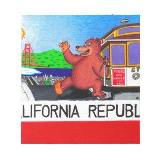 San Francisco California Bear Flag 2 Notepad