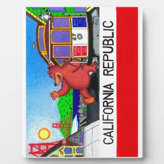 San Francisco California Bear Flag 2 Plaque