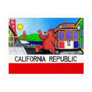 San Francisco California Bear Flag 2 Postcard