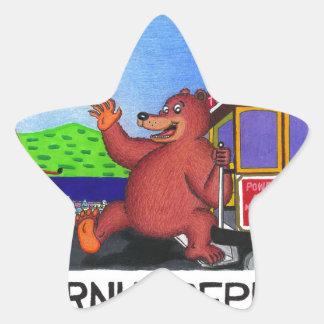 San Francisco California Bear Flag 2 Star Sticker