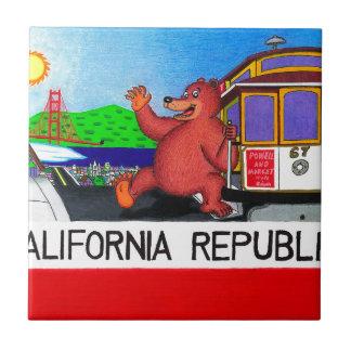 San Francisco California Bear Flag 2 Tile