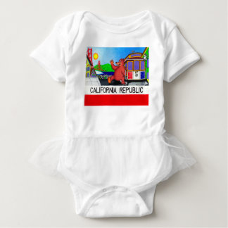 San Francisco California Bear Flag Baby Bodysuit