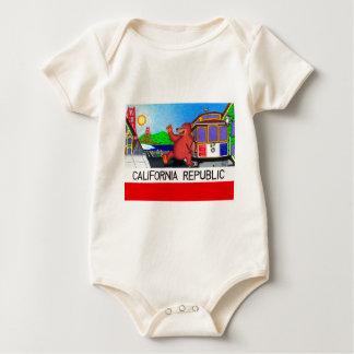 San Francisco California Bear Flag Baby Bodysuit