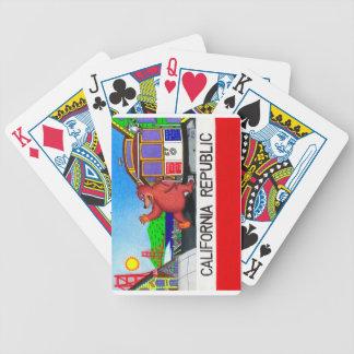 San Francisco California Bear Flag Bicycle Playing Cards